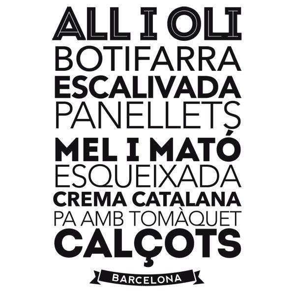Adesivi Murali: Gastronomia a Barcellona