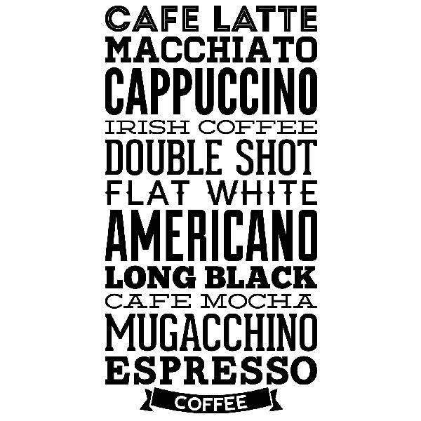 Adesivi Murali: Tipi di caffè