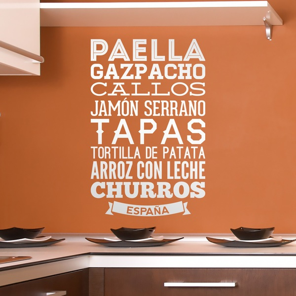 Adesivi Murali: Gastronomia della Spagna