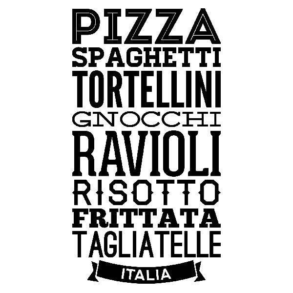 Adesivi Murali: Gastronomia d Italia