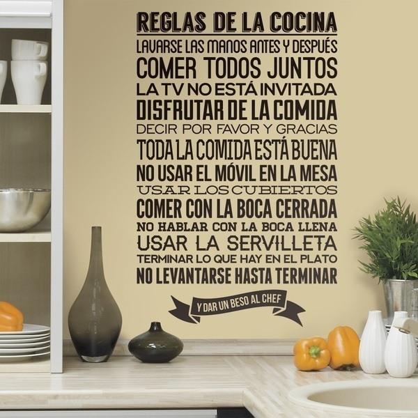 Adesivi Murali: Reglas de la Cocina