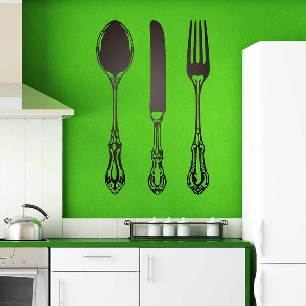 Adesivi Murali: Cucchiaio, coltello e forchetta