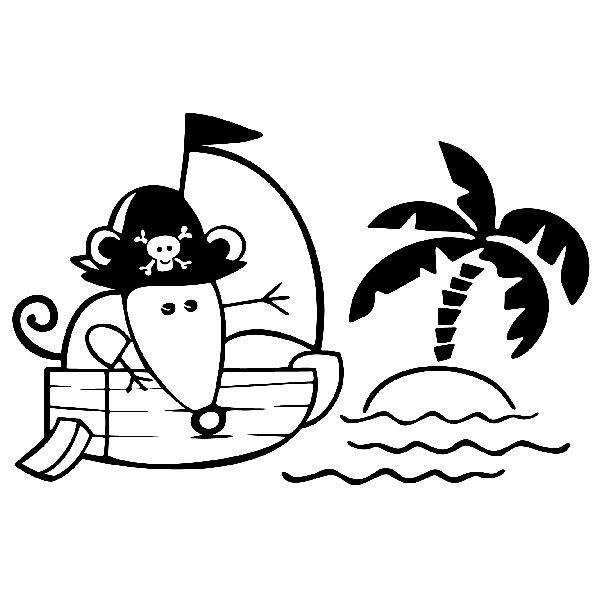 Adesivi per Bambini: Pirata 1