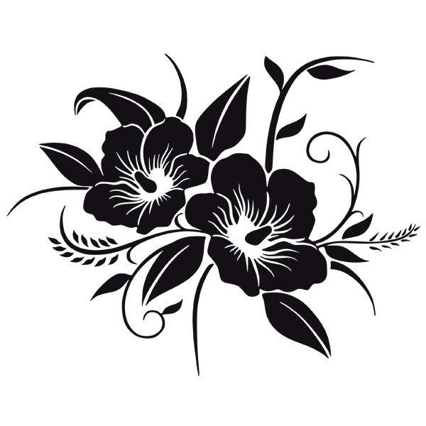 Adesivi Murali: Fiore dalle Hawaii