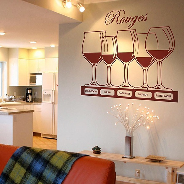 Adesivi Murali: Tipi di vino rosso