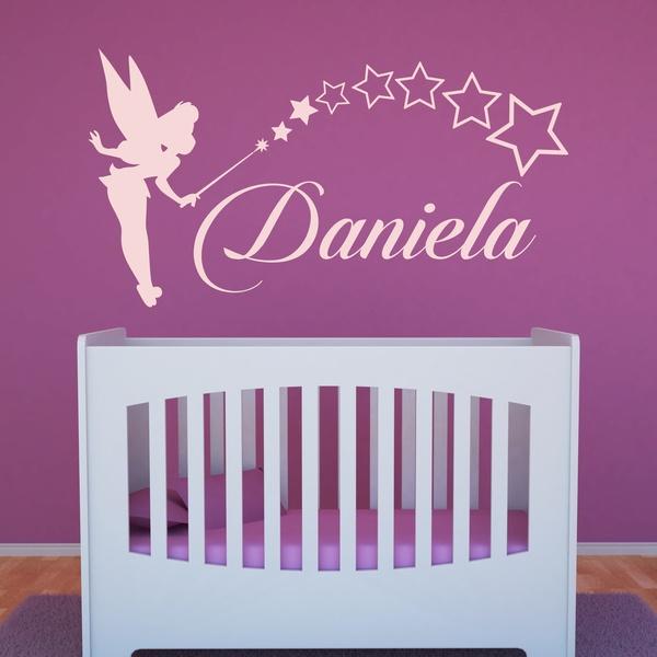 Adesivi per Bambini: Personalizzato Tinkerbell fata
