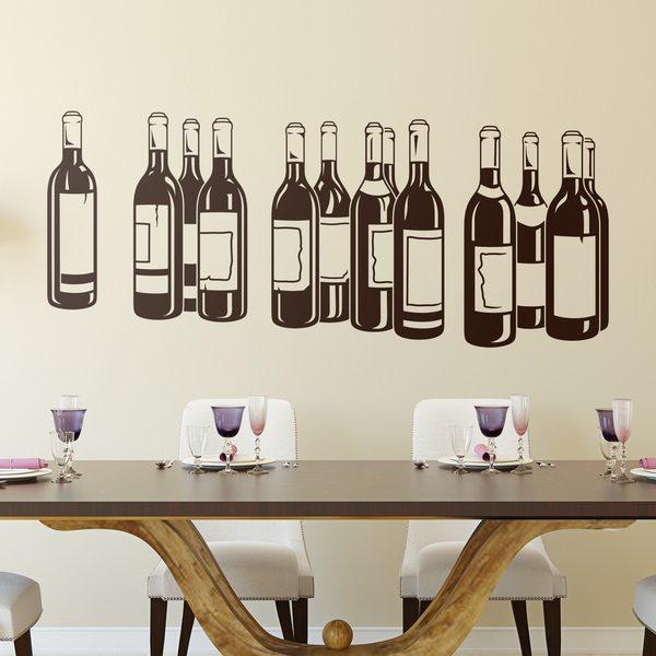 Adesivi Murali: Bottiglie di vino rosso