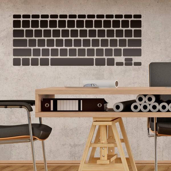 Adesivi murali tastiera del computer portatile for Adesivi computer