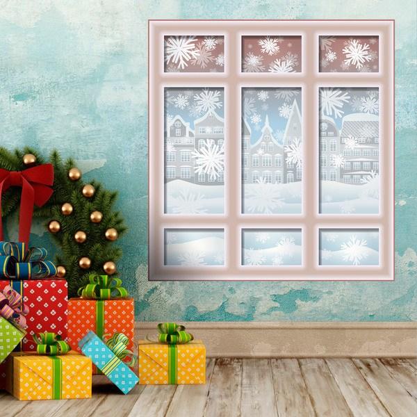 Adesivi murali finestra di natale - Addobbi finestra natale ...