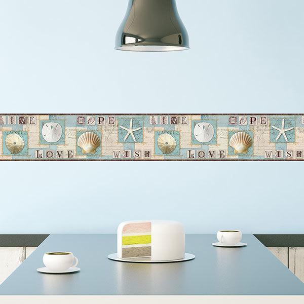 Strisce decorative adesive per pareti colori per for Adesivi per pareti