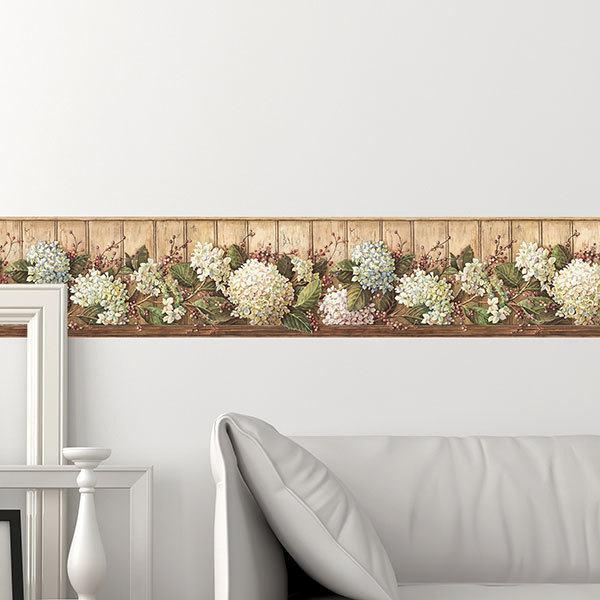 Bordi adesivi per pareti fiori colori per dipingere for Bordure adesive per pareti