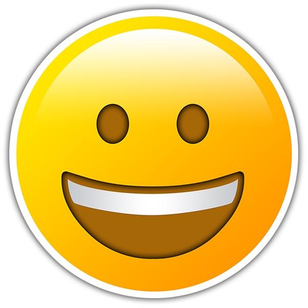 Armario Garaje Plastico ~ Adesivi per Auto e Moto Volto sorridente con grande bocca