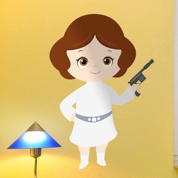 May The Fourth Be With You Baby Shower: Adesivi Murali Per Bambini Principessa Leila
