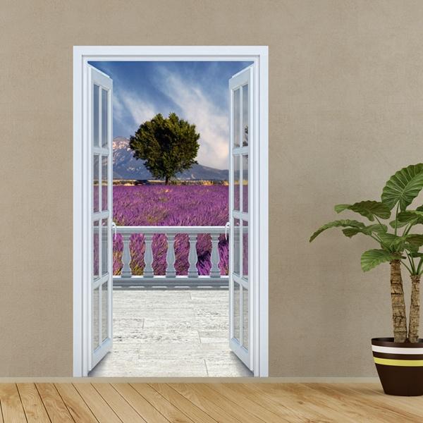 Adesivi murali 3d trompe l oeil di balconi for Adesivi murali 3d