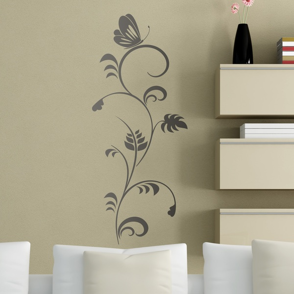 Adesivi Murali: Farfalla sul fiore