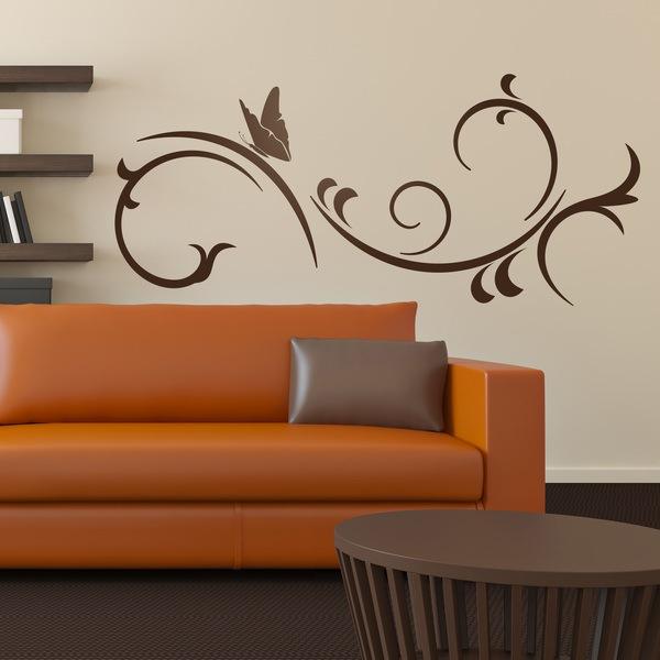 Adesivi Murali: Farfalla e vento