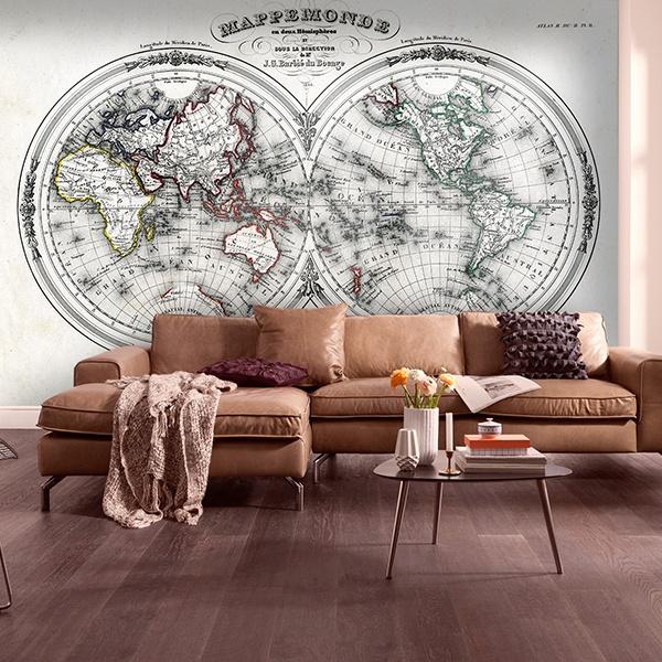 Carta da parati mappe del mondo for Carta da parati maison du monde