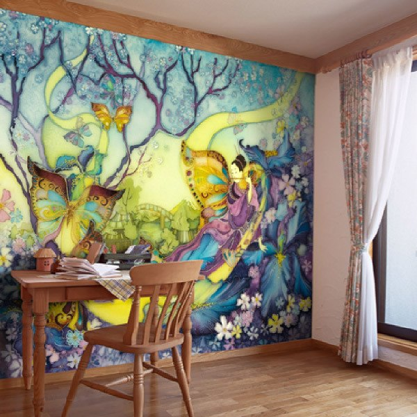 Carta da parati di dipinti for Carta parati murales