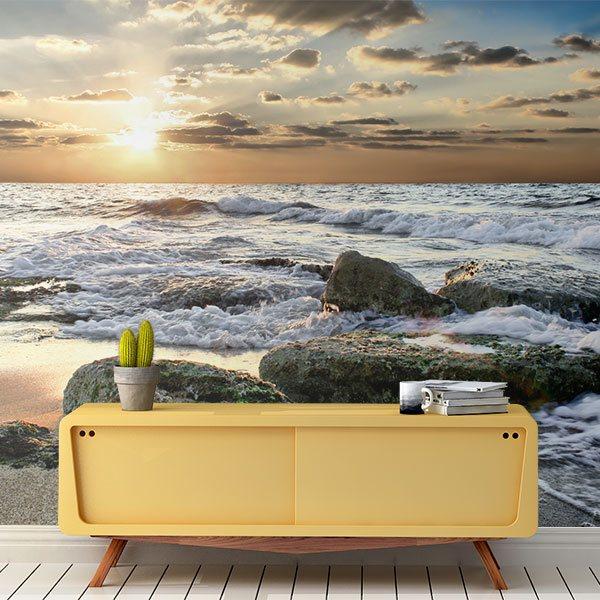 carta da parati di spiagge. Black Bedroom Furniture Sets. Home Design Ideas