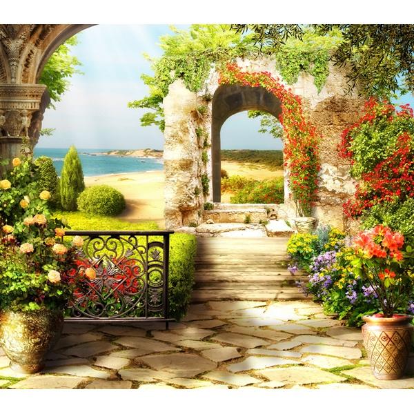 Carta da parati il giardino sul mare - Il giardino sul mare ...