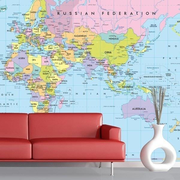 Carta da parati mappe del mondo for Carta da parati geografica