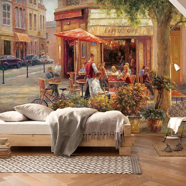 Fotomurali : Cafe Corner, Paris (Haixia Liu)
