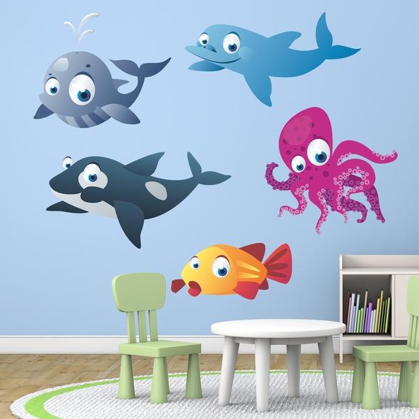Kit adesivi murali acquario 12 for Fondo per acquario