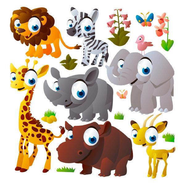 Giungla degli animali - Adesivi per mobili bambini ...