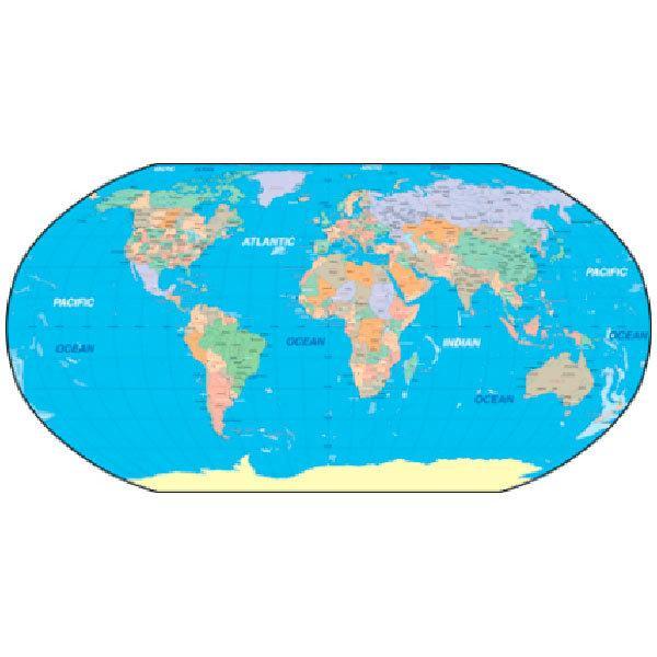 Adesivi Murali: Mappa del mondo