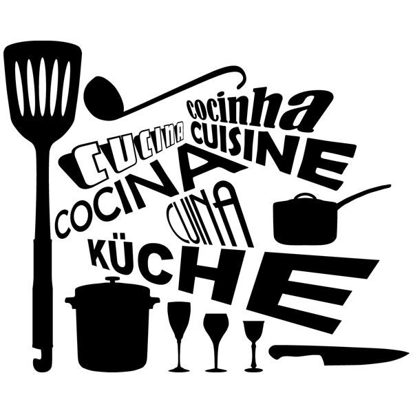 Adesivi Murali: Cucina in Lingue