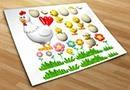 Adesivi bambini galline
