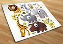 Adesivi bambini kit animali