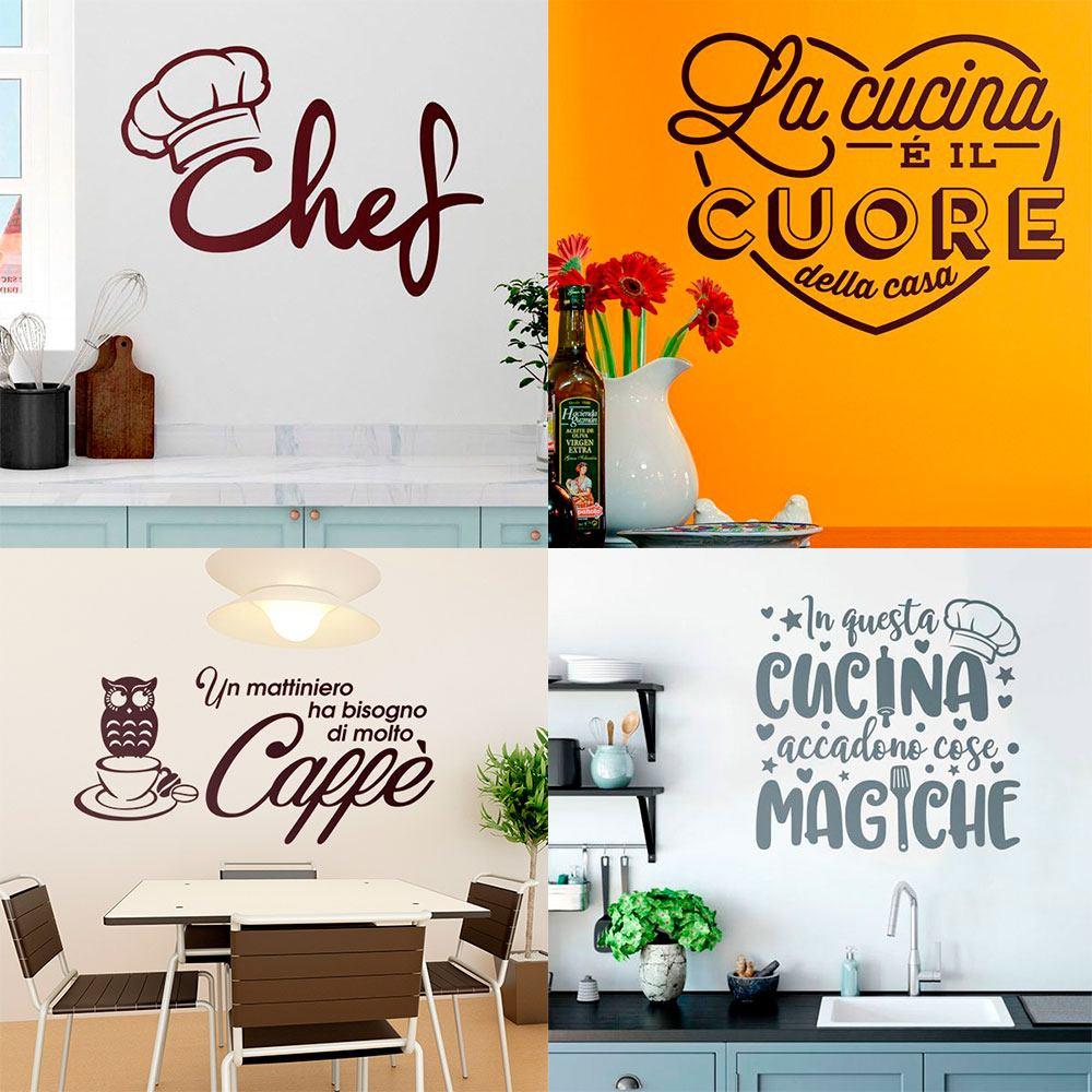 Adesivi murali stickers murali adesivi per pareti for Stickers murali cucina