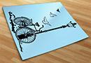 Adesivi murali bicicletta