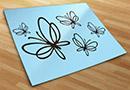 Stickers murali farfalle