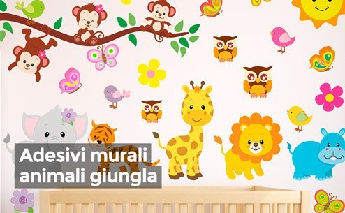 Adesivi murali per bambini