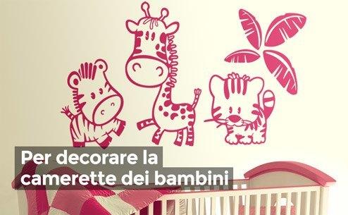 Adesivi murali per bambini - Stencil camerette bambini ...