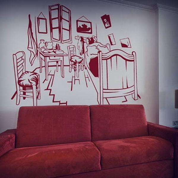 Adesivo murale La camera da letto di Arles, Van Gogh ...