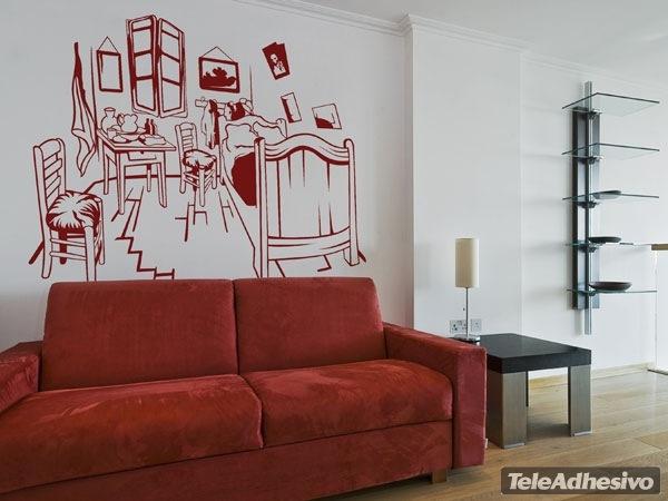 Adesivo murale la camera da letto di arles van gogh - Camera da letto van gogh ...