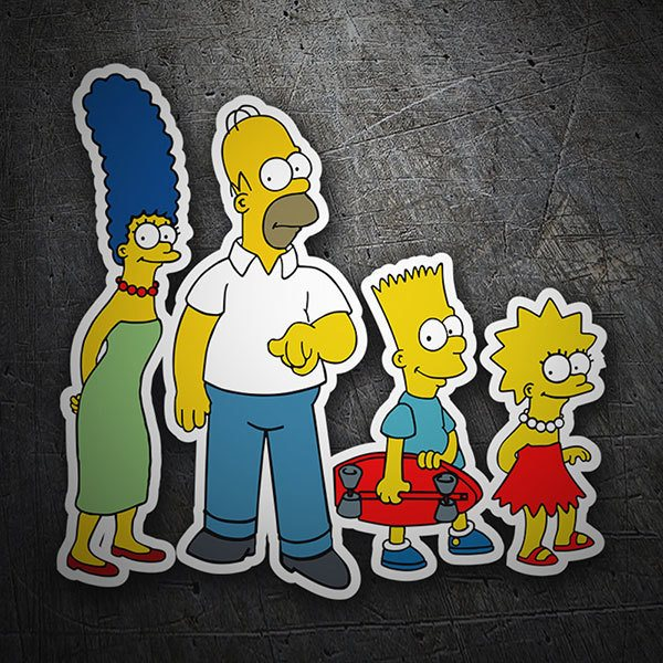 Adesivi per Auto e Moto: The Simpsons