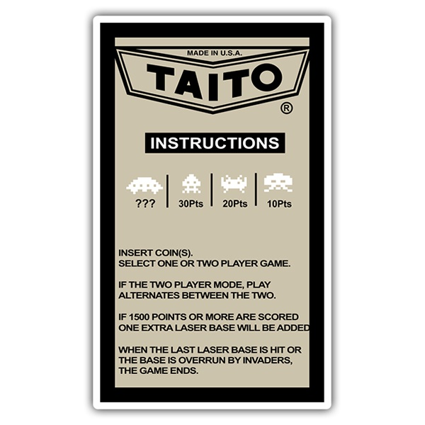 Adesivi per Auto e Moto: Taito Instructions