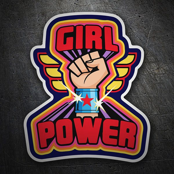 Adesivi per Auto e Moto: Girl Power Wonder Woman