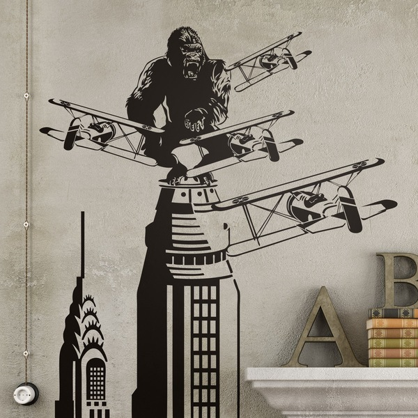 Adesivi Murali: King Kong a New York