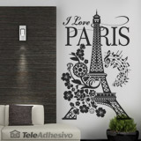Adesivi Murali: I Love Paris 3