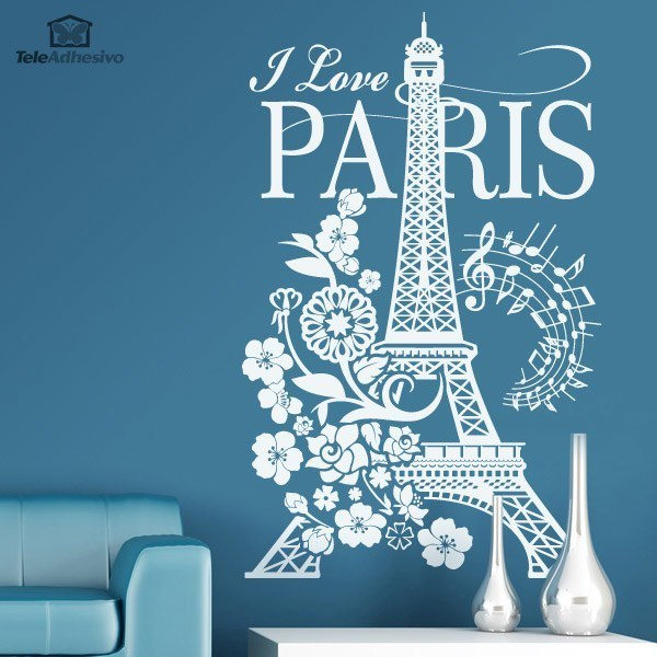 Adesivi Murali: I Love Paris