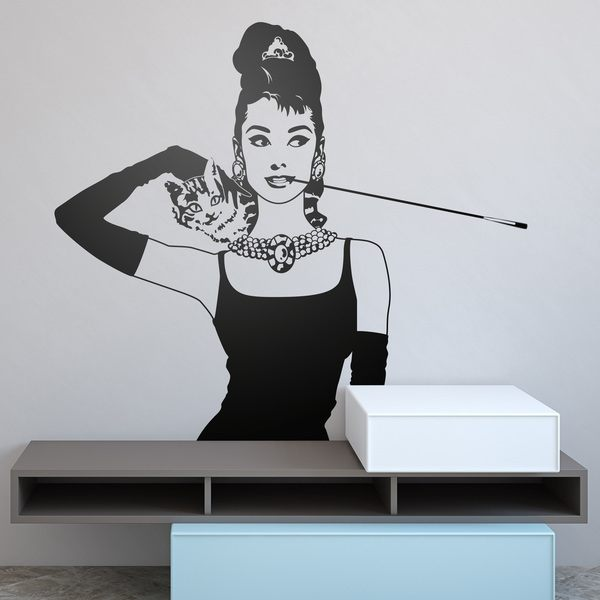 Adesivi Murali Audrey Hepburn.Adesivi Murali Di Audrey Hepburn Stickersmurali Com