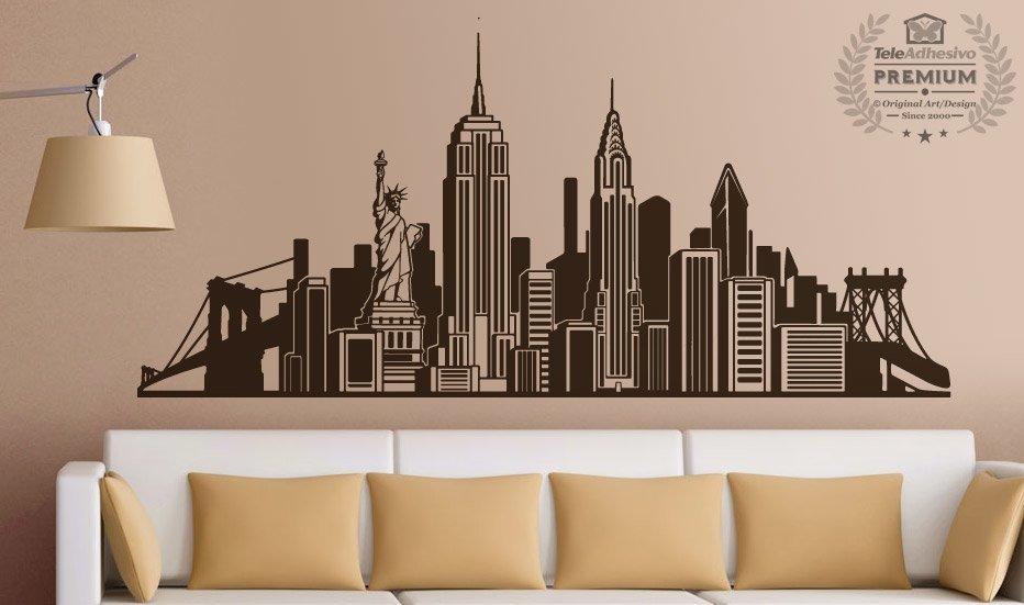 Adesivo murale skyline new york for Vinilos pared new york