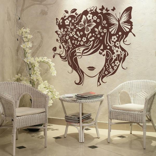 Adesivi murali parrucchieri for Arredamento parrucchiere economico