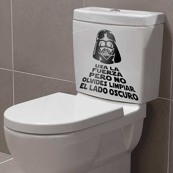 Adesivo murale bagno usa la forza - Bagno in spagnolo ...