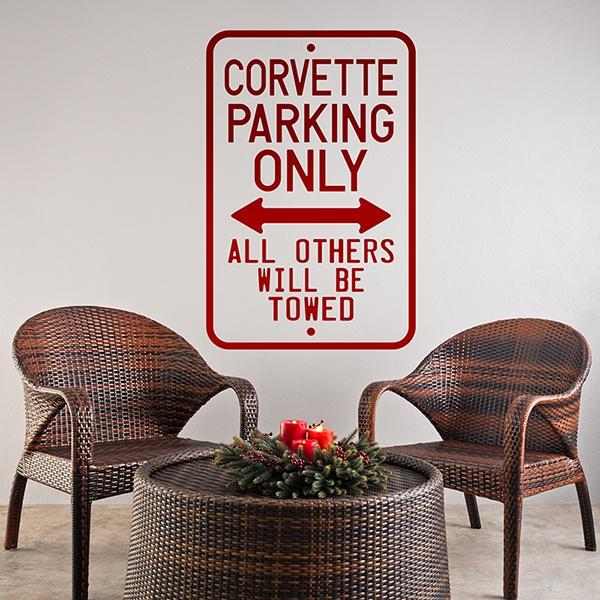 Adesivi Murali: Corvette Parking Only